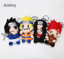10pcs/lot Anime Uzumaki Naruto Uchiha Sasuke Gaara Uchiha itachi 13cm Plush Dolls with Chain Stuffed Soft Toys Kids Gift AP0005(China)