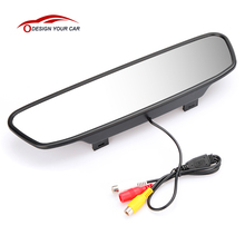 "5"" TFT LCD Car Monitor Parking Assistance Car Rear View mirror monitor Backup Reverse Auto TV Car DVD DVR Screen Monitor"