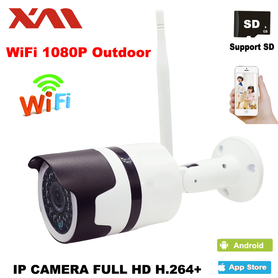 XM 1080P Outdoor Waterproof Bullet IP Camera Wifi Wireless Surveillance Camera support Memory Card CCTV Camera Night Vision