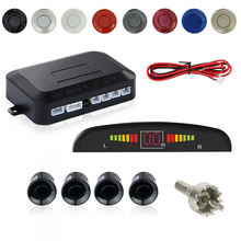 Car Parking Sensor KIT 4 Sensors Reversing Radar LED Display Car-Detector System Auto Electromagnetic Parktronic Parking Sensor
