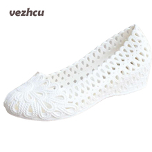 VZEHCU New Jelly Sandals Summer Shoes Soft Woman Wedges Gladiator Sandals Casual Nest Platform Shoes Woman Plus Size 36-40 2e13