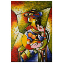 hand painted Pablo Picasso famous paintings dream girl abstract painting figure oil painting on canvas Modernism Cubism Wall Art