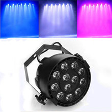12W 12LEDs Stage Lamp Sound Activated Auto RGBW Color Changing Bar Disco Wall KTV Light 110V-240V US/EU Plug  Sale --M25