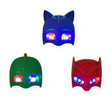 Pj LED Cartoon Mask Characters Catboy Luna Girl Gekko Mask  Gift Toy for Halloween Birthday Party Festival