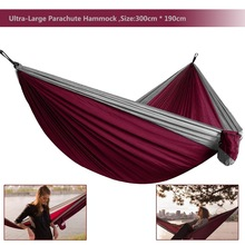 Parachute Hammock Garden Camping Light-Weight Hamak Travel Survival Ultra-Large Double-Person