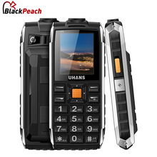 Uhans V5 Dustproof Shockproof Feature phone Dual Sim Card 2500Mah Battery Power bank Big speaker Led Flashlight Outdoor Phone