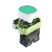 5X 22mm Panel Mounted AC 240V 3A SPST NO Momentary Push Button Switch Green