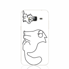 19368 simon cat custom cell phone case cover for Samsung Galaxy J1 MINI J2 J3 J7 ON5 ON7 J120F 2016 2015