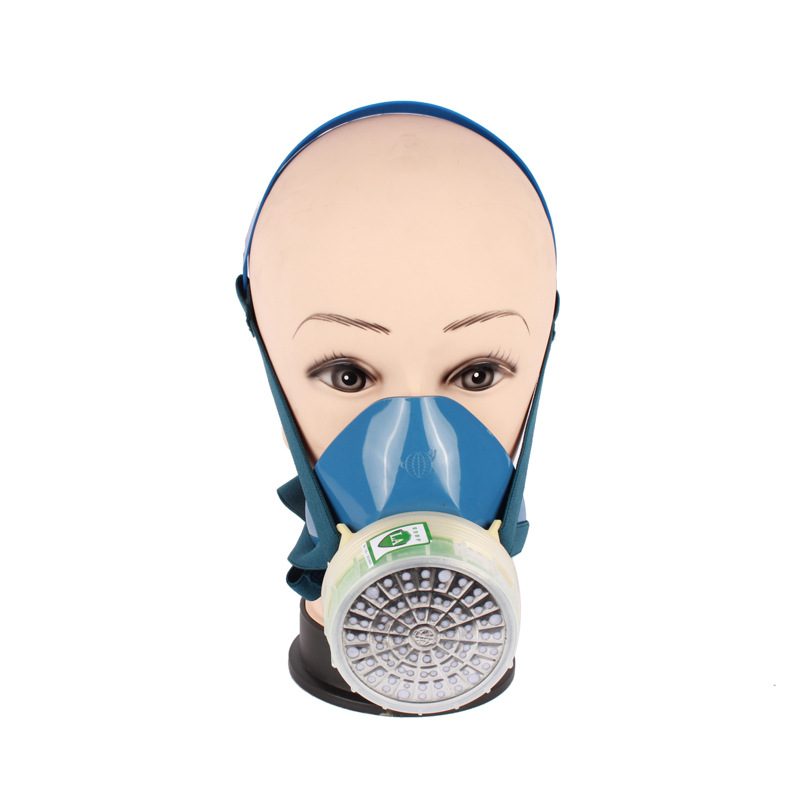 New 2008-4 efficient gas activated carbon PVC single respirator filter box antivirus half mask activated carbon respirator<br><br>Aliexpress