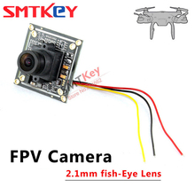 SMTKEY 2.1mm lens fish eye wide view fpv camera 2041+2355 sharp ccd cctv camera for RC Quadcopter Drone FPV Photography