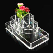 Lipstick Holder Acrylic Cosmetic Organizer Display Stand Clear Makeup Organizer Storage Container Makeup Case(China)
