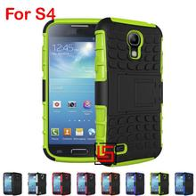 Armor Rugged Hybrid Hard PC TPU Soft ShockProof Phone Cell Mobile Case Cover For Samsung Samsun Samsuns Galaxy S4 GT I9500 S IV(China)