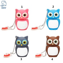 KRY cute cartoon owl USB flash drive memory stick 4GB 8GB 16GB 32GB 64GB U disk USB 2.0 PendrivesUSB flash pen Free Shipping(China)