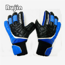 New Men Adult Professional Thicken full latex emulsion Non-slip Football Soccer Goalkeeper Gloves Goalie finger protection guard