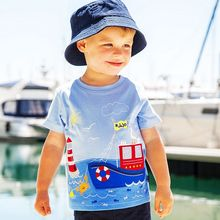 Boys Tops Summer 2017 Brand Children T shirts Boys Clothes Kids Tee Shirt Fille 100% Cotton Character Applique Baby Boy Clothing