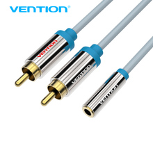 Vention 2 RCA Male to Female 3.5mm Jack Audio Cable RCA Jack Splitter Y Cable For iPhone Edifer Home Theater DVD Headphone AUX