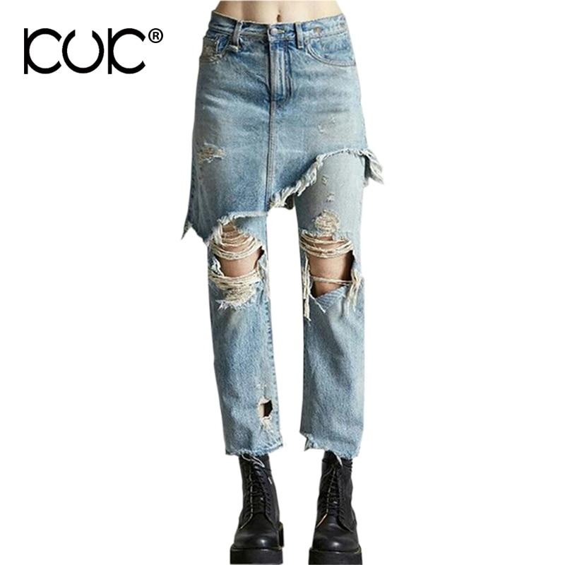 Kuk Jeans Woman 2017 Ripped Jeans For Women Pantalon Femme Boyfriend Denim Trousers Female Blue Pants Summer Spring A440Îäåæäà è àêñåññóàðû<br><br>
