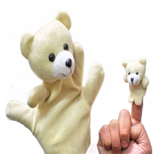 1Pcs Finger Doll Baby Plush Toys 100% Safe All kinds of animals Finger Puppet Child Educational Frogs Mice Dogs Rabbits Ducks(China)
