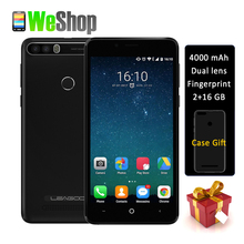 LEAGOO KIICAA POWER smartphone 4000mAh Dual back Camera MT6580A Quad Core 5.0 Inch Android 7.0 2GB Ram Fingerprint 3G phone(China)
