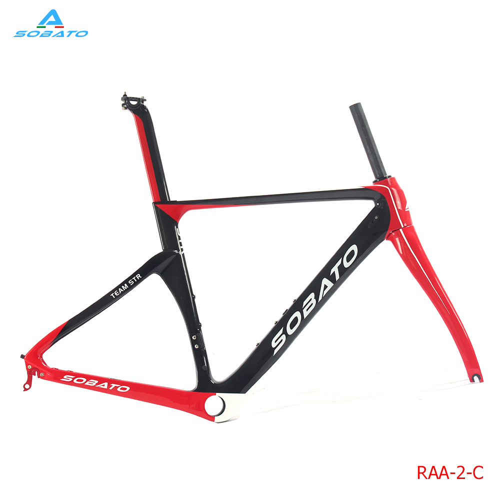 Brand New Full Carbon UD Matt 700C Road Frame 54cm  (painted red), Fork, Seatpost, Clamp, Alloy headset