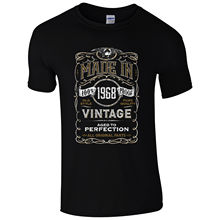 Made in 1968 T-Shirt Born 49th Year Birthday Age Present Vintage Funny Mens Gift 100% Cotton Brand New T Shirts 2017 Latest(China)