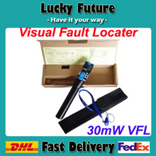 30mW Visual Fault Locator Fiber Optic Cable Tester 30KM Test Laser Product Red light pen fiber-optic test fault detector Pen