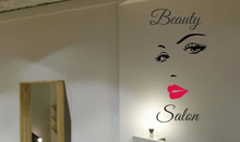 Hair Beauty Salon Hairdresser Wall Art Mural Sticker Home Decor Living Room Shop Window Decoration self adhesive Decals ZA252
