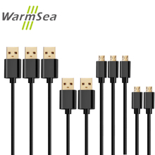 WarmSea Micro USB Cable Fast Charging Mobile Phone 2.4A 1/3/4/5 Pack 30cm 1m 2m 3m Data Sync Charger Cables for Samsung J5 J7