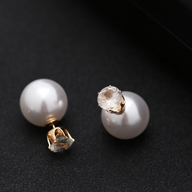TDQUEEN Simulated Pearl Jewelry Sets Gold Color Big Round Pearl Wedding Necklace and Earrings Sets Party Accessories for Women (6)