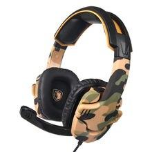 SADES Cuffie Gaming Camouflage Profonda Bass Stereo Auricolare Auricolari  Gioco Casque con Il Mic per il aeb8ba59dbf1