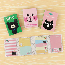 1 PC Lovely Cartoon Animals Memo Pad Sticky Notes Memo Notebook Stationery Papelaria Escolar School Supplies