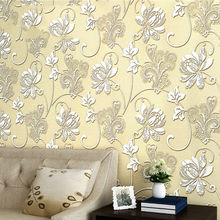 3D Embossed Damask European style Non-woven wallpaper Classic Wall Paper Roll Wallcovering Luxury Wallpaper Floral(China)
