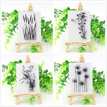 1 sheet DIY Grass and Flowers Transparent Clear Silicone Stamp/Seal for DIY scrapbooking/photo album Decorative clear stamp