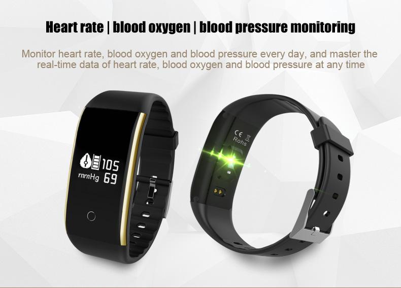 Waterproof Android Pedometer + Blood Pressure & Heart Rate Monitor Wrist Watch 7