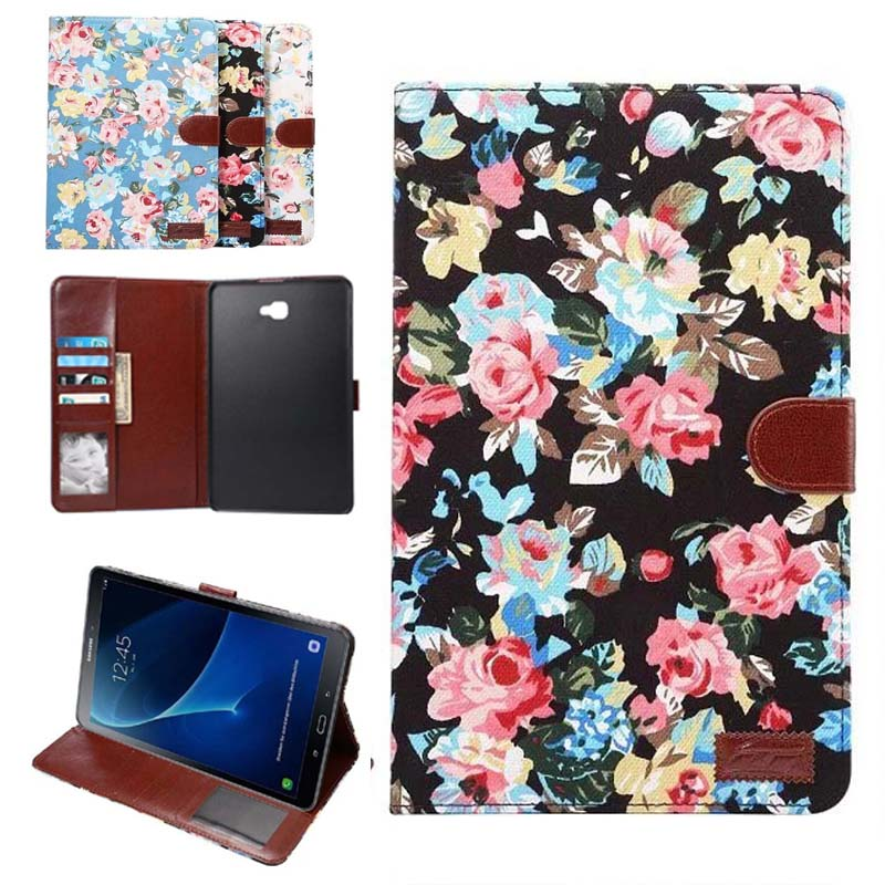 high quality Fashion Printed cloth smart Tablet Case Cover For Samsung Galaxy Tab A 10.1 2016 T585 T580N case pen+film<br><br>Aliexpress