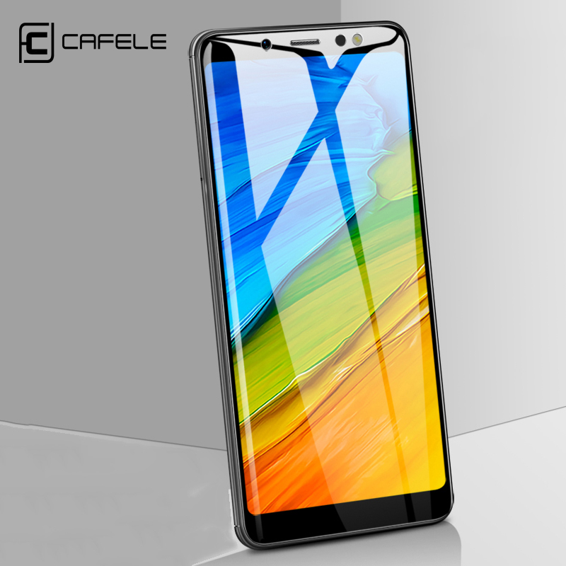 CAFELE Tempered Glass Screen Protector Xiaomi Redmi note 5 Global Version 2.5D 9H HD Clear Protective Glass Film Anti Glare