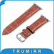 22mm 24mm Genuine Leather Watch Band Strap Bracelet Link Connector Adapter iWatch Apple Sport Edition 38mm 42mm - TRUMiRR Watchband Store store