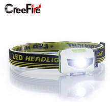 H3 High quality 4 Mode headlamp Waterproof  LED Headlight Flashlight white + red light Head lamp Torch light