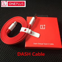 Original 1+ ONEPLUS 3 3T Dash Type-C Cable , 100CM Red Noodles Dash Charge Fast Charger Cable For One plus Mobile Phones