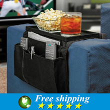 Sofa side hang the bag,Multifunction Thicken Storage Bag,multi-layer multi-format  remote control package Black.