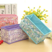 2016 Multifunction Folding Non-woven Make Up Cosmetic Storage Box Organizer Jewelry Container Bag Case Random Color