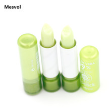 Lip Stick Magic Colour Lipstick Lip Aloe Vera Moisturezer 2 PCS Red Temperature Change Color Lipstick P3007(China)