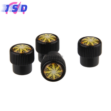 Car Accessories Car Cover Tire Valve Caps Repair Tools with Flame Logo for Proton inspira Peugeot 307 Renault Duster Honda Buick(China)