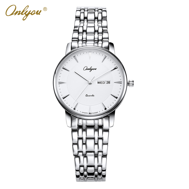 Onlyou Luxury Brand Watches Women Stainless Steel Quartz Wrist Watches For Women Unique Ladies Dress Watch Female Clock 83003<br>