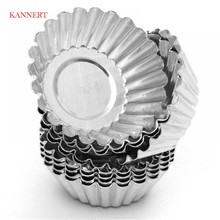 10pcs Cake Aluminium Alloy Tart Mould Baking Tool Cupcake Egg Tart Fruit Tart Mold(China)
