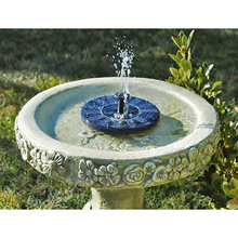 New Fashion Pretty Solar Panel Water Floating Pump Fountain Garden Plants Pool Watering Solar Pump Kit 1Set