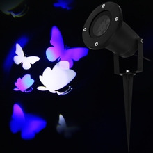 Outdoor Christmas Pattern Projetor LED Waterproof Blue/White Butterfly Light Landscape Projector Lamp Halloween Garden Deco(China)