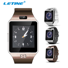 Letine dz09 dz 09 smartwatch clock men andriod wrist watch cell phone support sim card for bluetooth connect iPhone PK A1 Q18(China)