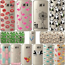 ciciber Mickey&Minnie kiss Lips pineapple unicorn Flamingo cactus panda soft silicone cases cover for samsung Galaxy S7 S7 Edge