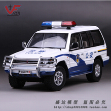 Mitsubishi Pajero 1998 1:18 car model SUV metal alloy diecast SunSatr Collection gift  Modified cars SWAT police toy boy
